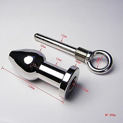 Anal túnel con ojete - Acero Butt Plug para abrir y cerrar - Peso 430 gramos - Longitud 13 cm diámetro Max 3,9 cm: Amazon.es: Salud y cuidado personal