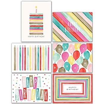 Watercolor Bulk Birthday Cards Assortment 48pc Happy Card With Envelopes Box Set Assorted Blank For Women Men