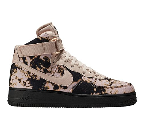 Nike Men's AIR Force 1 Print HIGH Shoe Black/Beige (10.5 D(M) US) ()