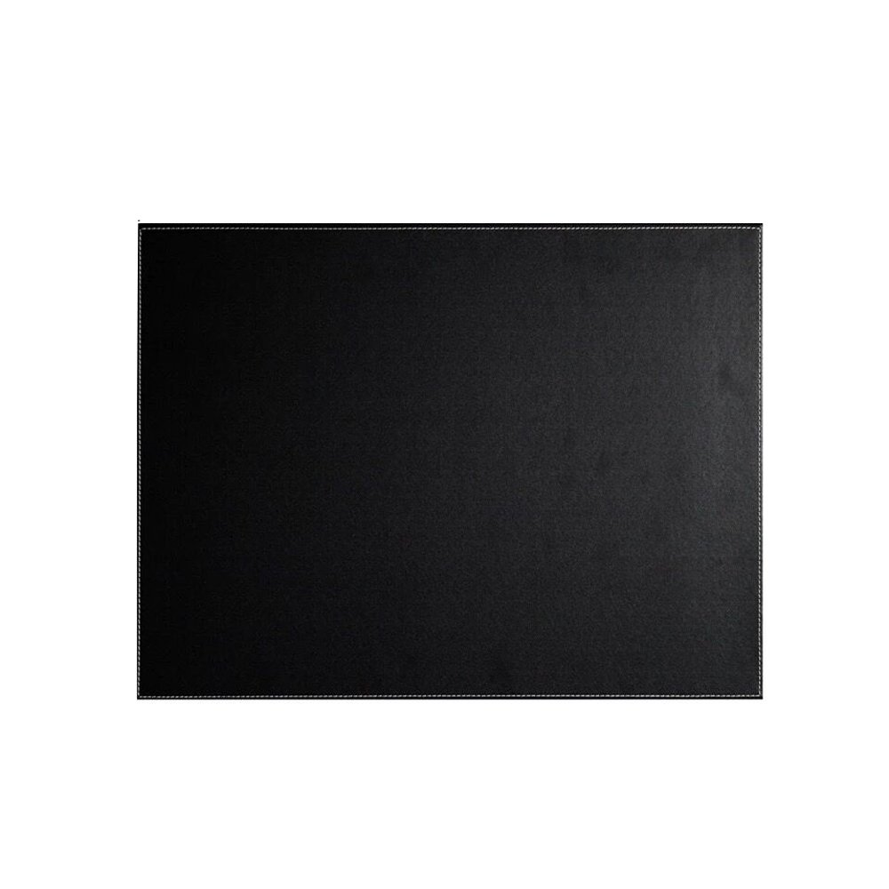 UnionBasic PU Leather Desk Mat - Protective Mat & Protector Mouse Pad for Desktops and Laptops, 16'' x 12'' (Black, Size S)