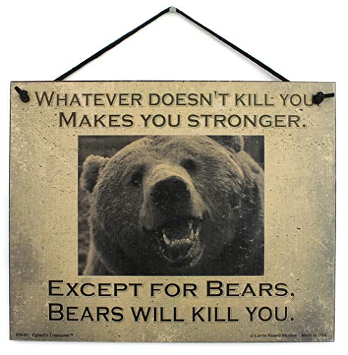 Vintage Style Sign (with Bear) Saying,