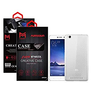 Margoun for Xiaomi Redmi 3 Case Clear TPU Back Cover Protection Case - Transparent Clear