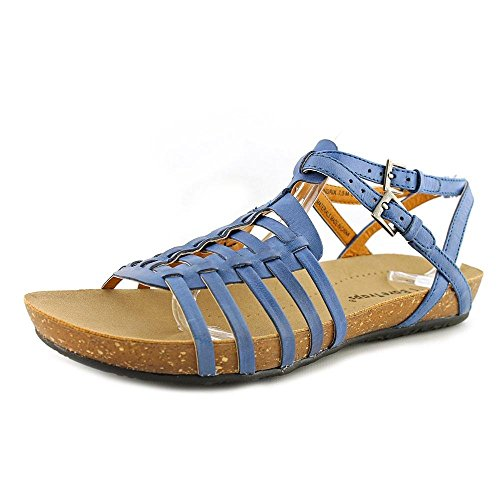 Bare Traps Womens HENDRIX Open Toe Casual Leather Flat Sandals