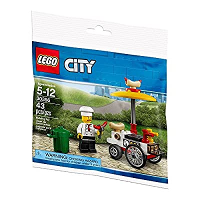 LEGO City Hot Dog Cart and Vendor (30356) Bagged: Toys & Games