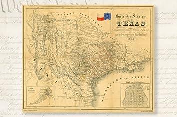 Amazoncom 1849 HISTORIC MAP OF REPUBLIC OF TEXAS POSTER german