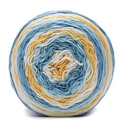 Caron Big Cakes Self Striping Yarn ~ 603 yd/551 m/10.5oz/300 g Each (Jordan Almond)