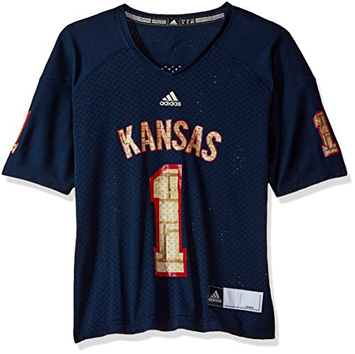 NCAA Kansas Jayhawks Women's Replica Football Jersey, Navy, -