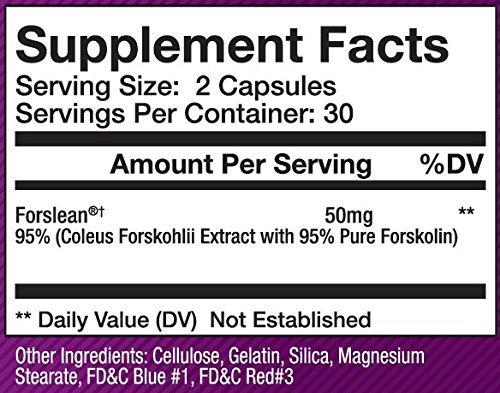 Forslean® Forskolin by Olympus Labs (Premium Essentials Series) (50mg per Serving, 30 Servings)