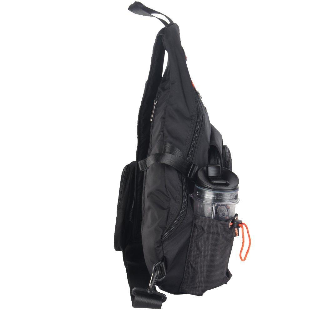 Innturt Large Sling Bag Backpack Pack 13 14 Laptop Bag Satchel School Travel Black