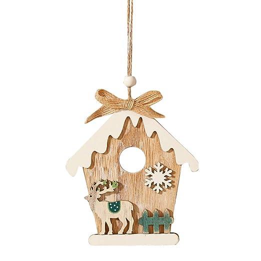 HSKB - Colgante de Madera para Navidad, Regalo para niños, árbol ...