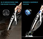 WELIKERA 12V 100W Cordless Handheld Vacuum, Powerful Portable Vacuum Cleaner, Rechargeable Vacuum with Stainless Steel Filter and A Carrying Bag, Black