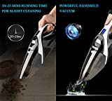 Dust Buster Cordless, WELIKERA 12V 100W Cordless Handheld Vacuum, Powerful Portable Vacuum Cleaner, Rechargeable Vacuum with Stainless Steel Filter and A Carrying Bag, Black