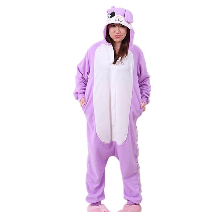 BOMOVO Pijamas de una pieza - para mujer-Conejo-morado