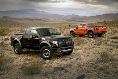 Ford F-150 Svt Raptor Truck Art Poster Print on 10 mil Archival Satin Paper Black/Orange Duo Desert View