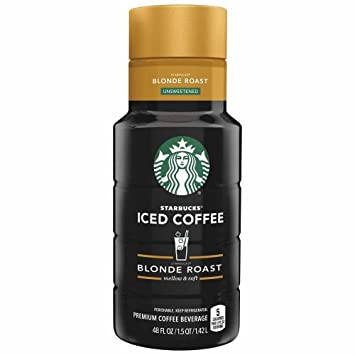 Starbucks Blonde Roast Iced Coffee Unsweetened 48 Oz
