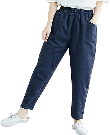 Asalinao - Mallas Deportivas para Mujer, tamaño Grande, algodón y ...