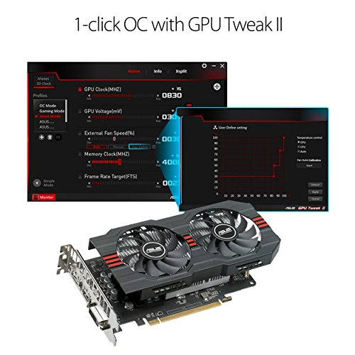 ASUS Radeon RX 560 14CU 4GB EVO OC Edition  GDDR5 DP HDMI DVI AMD Graphics Card (RX560-O4G-EVO) by Asus (Image #2)