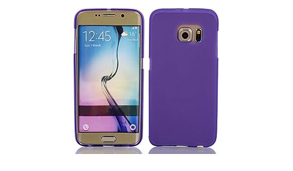 Amazon.com: eDealMax Volver cubierta de la caja del Protector púrpura w película protectora de limpiaparabrisas Para S6 / G925: Electronics
