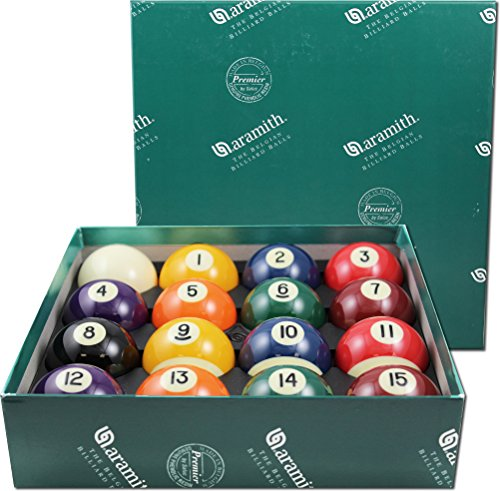 Aramith-2-14-Regulation-Size-Premier-BilliardPool-Balls-Complete-16-Ball-Set
