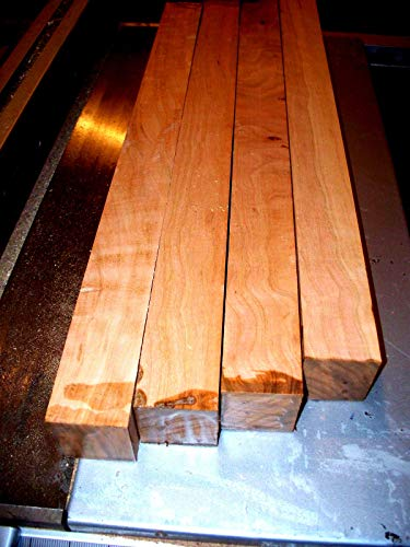 "Four (4) KILN Dried Black Cherry Turning Blocks Lathe Wood Blanks 3 X 3 X 12"""