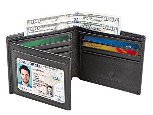 Mens Bifold Wallet Blocking Cowhide