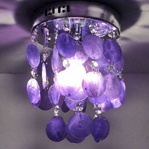 LightInTheBox Fashion Pendant Lamp For Living-Room Bedroom Wholesale And Retail Modern Home Ceiling Light Fixture Flush Mount, Pendant Light Chandeliers Lighting, Home Color=Purple;Voltage=110-120V