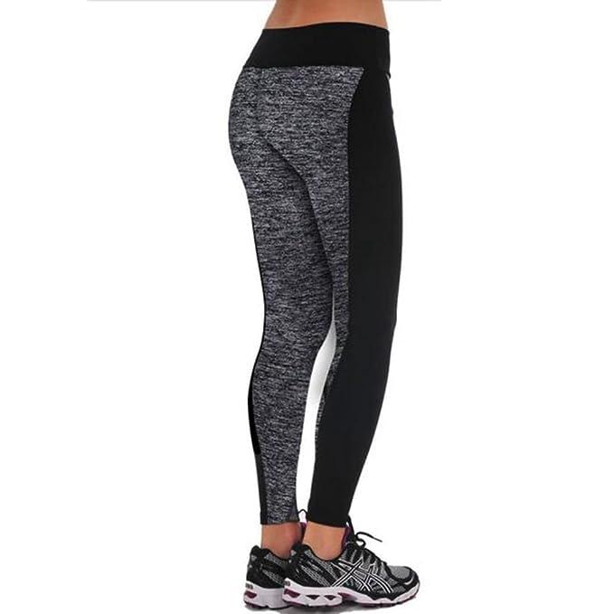 Pantalones Yoga Mujeres Mallas Deportivas Mujer Empalme de ...
