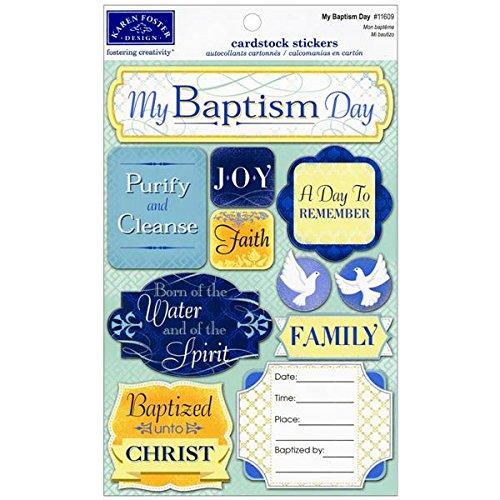 Phrases Stickers Scrapbook Cardstock - KAREN FOSTER Cardstock Stickers-My Baptism Day