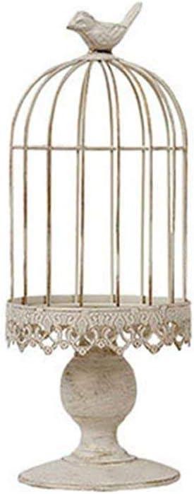 RuiXiang Open Birdcage Candle Holder,Vintage Candle Holder,Wrought Iron Decoration Birdcage Candle Holder,Wedding Romantic Birthday Supplies (Big)