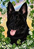 German Shepherd Black – Tamara Burnett St Patricks Large Flag For Sale