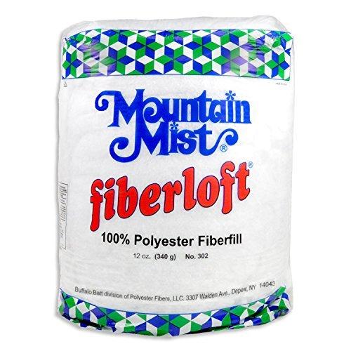 Mountain Mist Fiberloft Polyester Stuffing - 12 Ounce Bag (Stuffing Fiberloft Polyester)