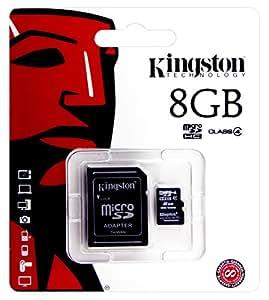 Kingston Technology-Tarjeta de memoria para Sony HDR-as200 Vt, Videokamera-Kingston-Tarjeta de memoria microSDHC de 8 GB clase 4 y adaptador SD incluidos, chip de memoria de ampliación de memoria.