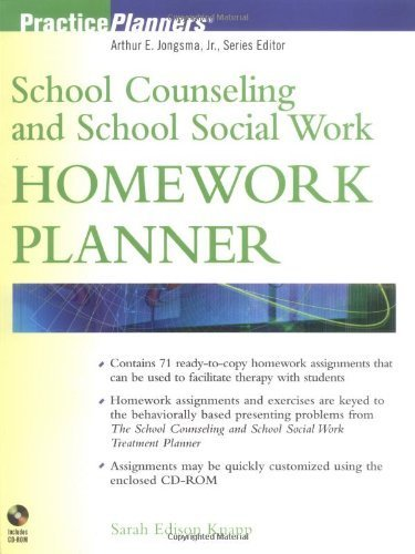 School Counseling and School Social Work Homework Planner by Sarah Edison Knapp (2002-11-08)