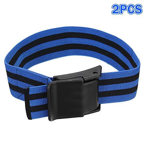 yagaga 2Pcs Blood Flow Restriction Bands Belt Strap Occlusion Tourniquet Biceps Training