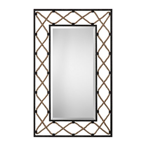 39' Tall Wall Mirror - MY SWANKY HOME Crossed Rope 52