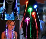 10 Pack Lights-up Fiber Optic Led Hair Lights (14