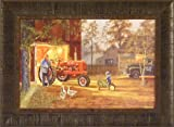 Common Ground by Dave Barnhouse 17x23 Farmall Tractor John Deere Pedal Tractor Farm Barn Nostalgic Americana Framed Picture
