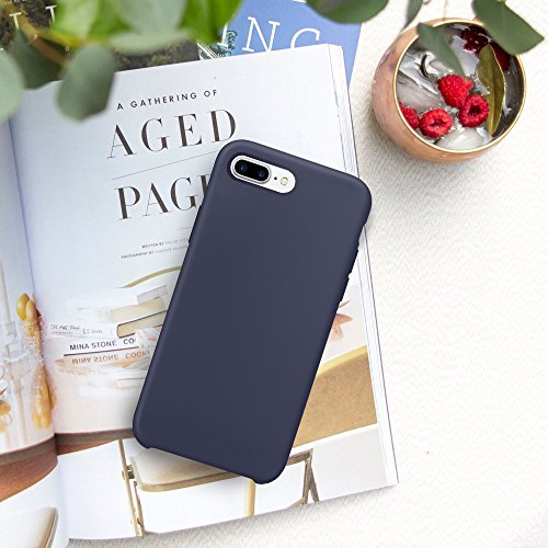 pour Rayures 7 Plus Couleurs Ultra Drapant Bonbon Bleu Rubber Coque Etui iPhone Plus 7 Apple Bumper Souple 5 iPhone Fonc JEPER Cases Fine 5