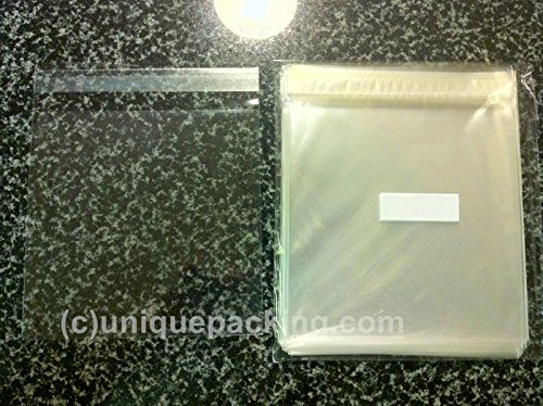 100 Pcs 6 7/16 X 6 1/4 Clear Resealable Cello Cellophane Bags Good for 6x6 Square Card (Cello Square)