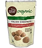 TruStar (formerly Naturi) Organic Italian Chestnuts, Peeled, Ready-to-eat, 3.5oz Pouch (Pack of 6)