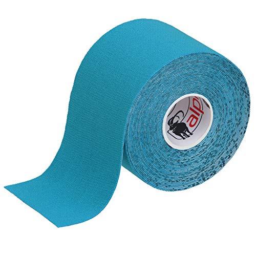 BB Sport 1 Rollo Cinta Kinesiología Tape 5 m x 5 cm Cinta Muscular E- Book Ejemplos Aplicación, Color:azul claro
