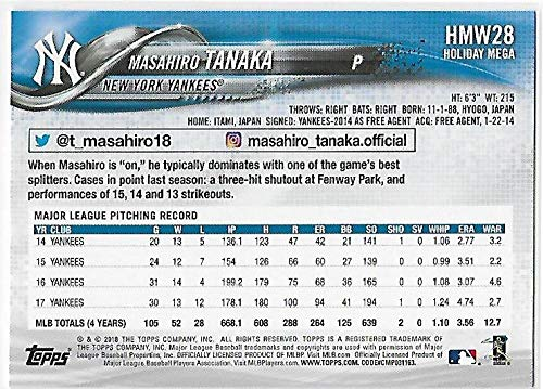 2018 Topps Holiday #HMW28 Masahiro Tanaka NM-MT Yankees