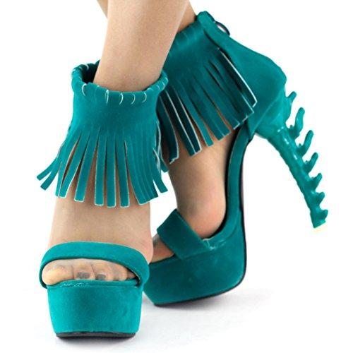Show Story - Sandalias romanas mujer Turquesa - azul claro