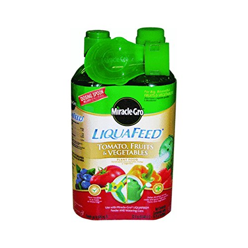 Miracle Gro 1004402 16 Oz LiquaFeed Tomato Fruit & Vegetable Plant Food 2 Count (Miracle Gro Liquafeed Refill)