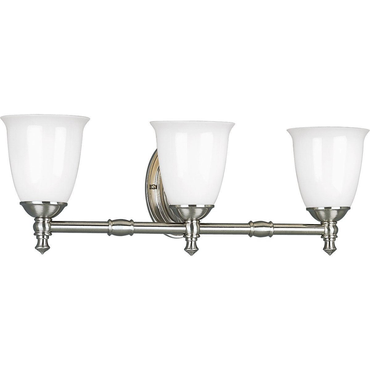 progress lighting p3029 15 3 light bath bracket with white opal