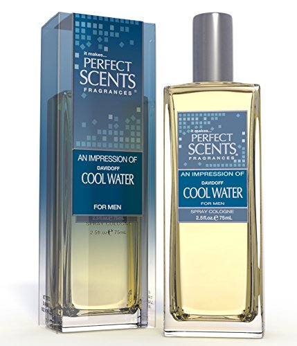Perfect Scents Impression of Cool Water Cologne for Men, 2.5 Fluid Ounce