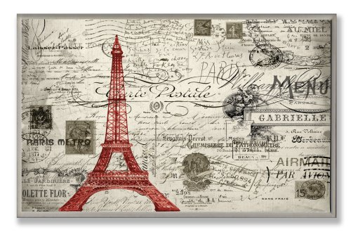 amazoncom the stupell home decor collection paris a vintage wall plaque home u0026 kitchen