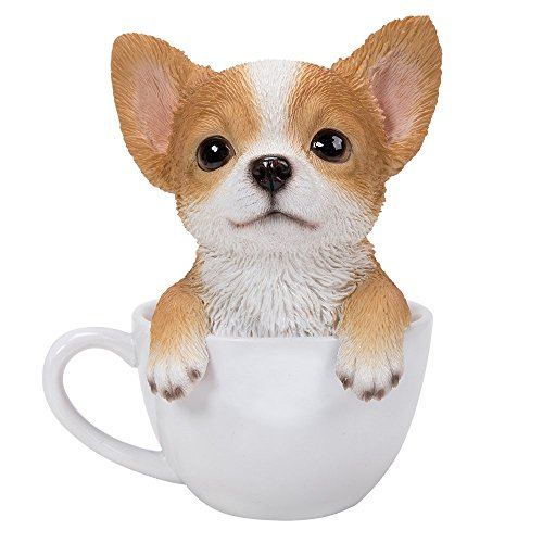 Adorable Teacup Pet Pals Puppy Collectible Figurine 5.75 Inches (Chihuahua)