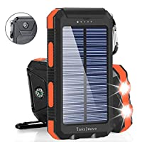 Solar Charger Solar Power Bank 20000mAh ...