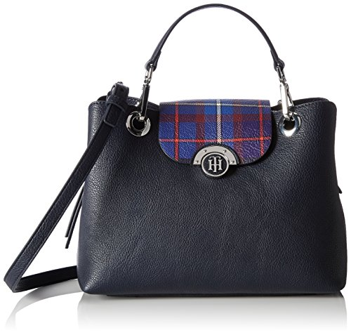 5x25 para 13x20 H Print Tommy Effortless Mujer cm L W Novelty x 5 x Totes Tommy Navy Tartan Colores Varios Bolso Med Hilfiger Satchel PAq4P8
